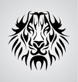 Lion face tribal vector