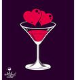 Valentines day beautiful martini glass vector