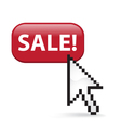 Sale button click vector