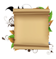 Parchment and plants vector