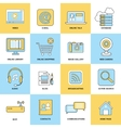 Internet icons flat line vector