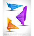 Origami triangle vector