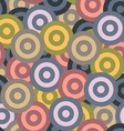 Retro seamless pattern with circles vector