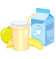 Milk shake with fruit vector