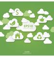 Cloud green concept vector