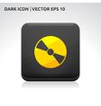 Cd dvd icon gold vector