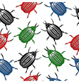 Bug seamless pattern vector