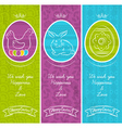 Greetings web banner for easter day vector