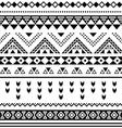 Tibal seamless pattern black aztec print on white vector