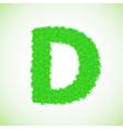Grass letter d vector