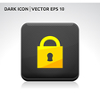 Lock icon gold vector