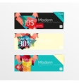 Set of banners with stickers labels and elements vector