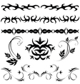Gothic patterns and ornaments vector