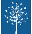 Tree birds vector