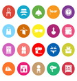 Dressing room flat icons on white background vector