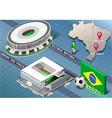 Isometric stadium of brasilia and sao paulo brazil vector