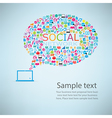 Template notebook idea with social network icons vector