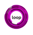 Loop infinity business icon vector