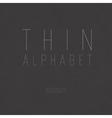 Thin alphabet uppercase vector
