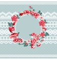 Vintage floral lace background with roses vector