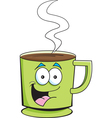 Cartoon cup of coffee vector