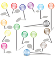 Set of pins vector