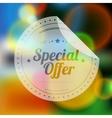 Vintage sale discount special offer label on vector