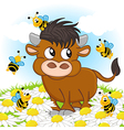 Bull and bee vector