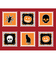 Halloween stamps vector