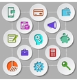 Management and finance flat design icon set vector