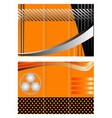 Tri-fold technology style brochure layout design vector