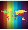 Multicolored world map vector