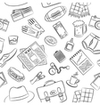 Male things pattern vector