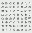 Universal web icons outline set vector