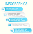 Modern infographic design template blue and white vector