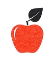 Red texture apple vector