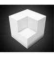 3d abstract backgroundwhite cube vector