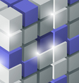 Background with 3d cubes vector