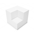 3d abstract background cube vector