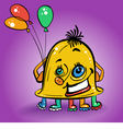 Monster with multicolored balloons vector