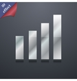 Mobile signal icon symbol 3d style trendy modern vector
