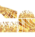 golden abstract backgrounds set vector