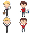 Cute and funny cartoon businessmen vector