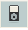 Musc media mp3 player on retro vintage background vector