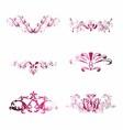 Pink vintage floral design element vector