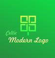 Irish celtic modern logotype vector
