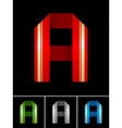 Abc font from coloured set paper ribbon-latin vector