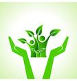 Save eco family concept vector
