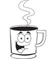 Cartoon cup of coffee vector