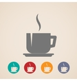 Coffee or tea cup icons vector